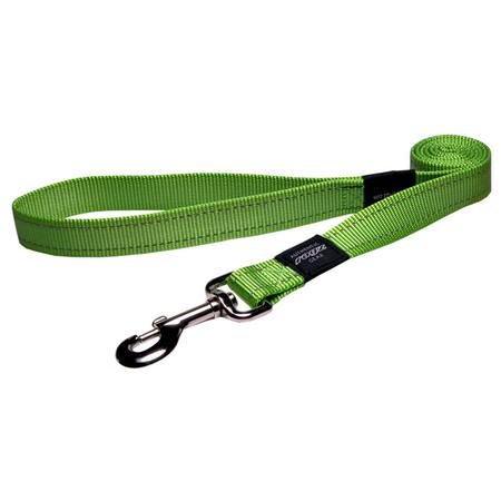 Rogz Reflective Nylon Dog Lead Green Lumberjack (25mm)