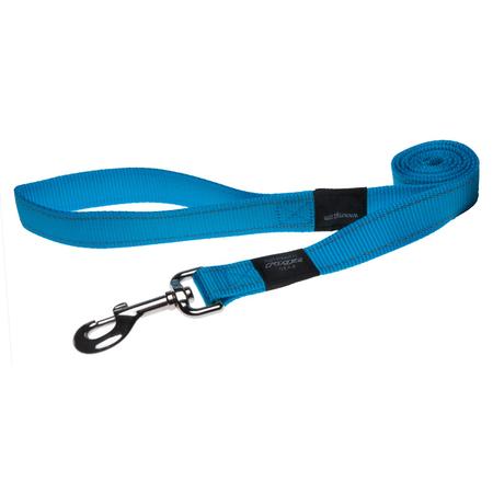 Rogz Reflective Nylon Dog Lead Turquoise Lumberjack (25mm)