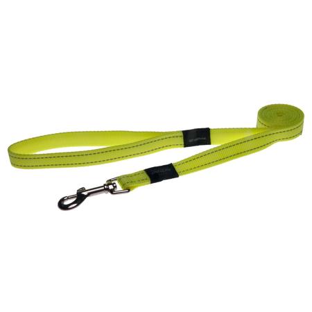 Rogz Reflective Nylon Dog Lead Yellow Lumberjack (25mm)