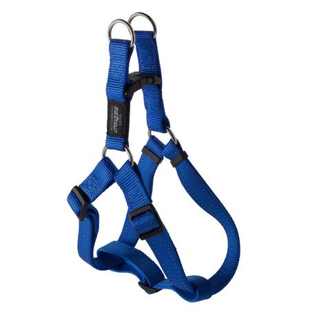 Rogz Reflective Nylon Step-In Dog Harness Blue Fanbelt (45-75cm Girth)