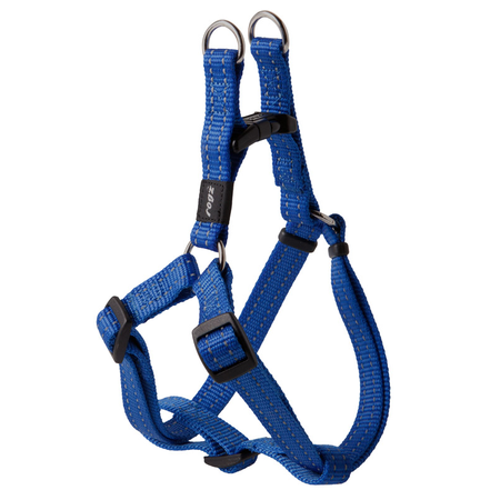 Rogz Reflective Nylon Step-In Dog Harness Blue Snake (32-52cm Girth)