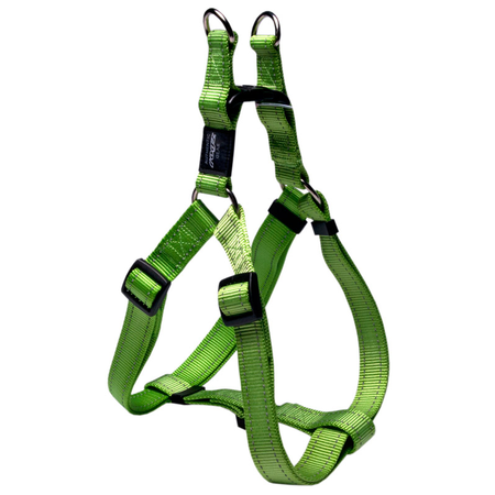 Rogz Reflective Nylon Step-In Dog Harness Green Lumberjack (60-100cm Girth)