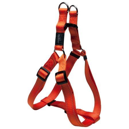 Rogz Reflective Nylon Step-In Dog Harness Orange Lumberjack (60-100cm Girth)