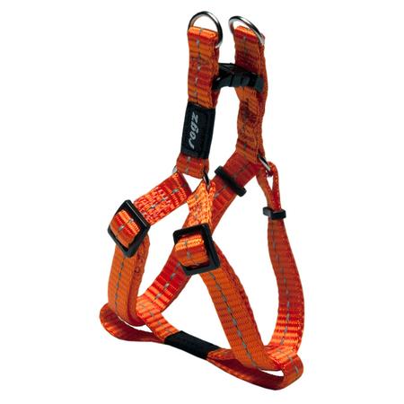 Rogz Reflective Nylon Step-In Dog Harness Orange Nitelife (23-37cm Girth)