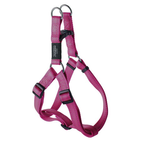 Rogz Reflective Nylon Step-In Dog Harness Pink Fanbelt (45-75cm Girth)