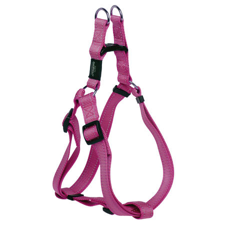 Rogz Reflective Nylon Step-In Dog Harness Pink Lumberjack (60-100cm Girth)