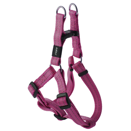 Rogz Reflective Nylon Step-In Dog Harness Pink Snake (32-52cm Girth)