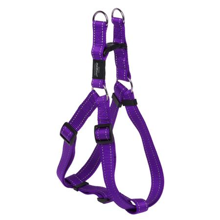 Rogz Reflective Nylon Step-In Dog Harness Purple Lumberjack (60-100cm Girth)