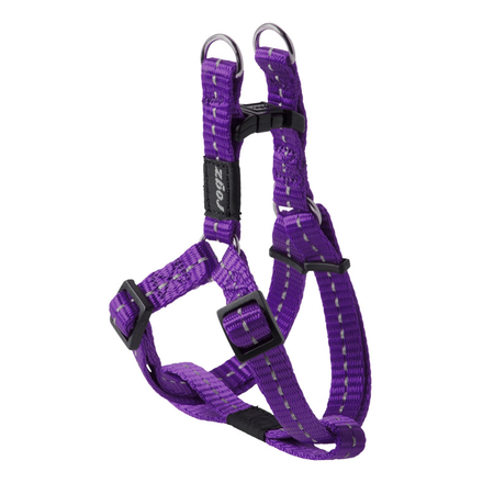 Rogz Reflective Nylon Step-In Dog Harness Purple Nitelife (23-37cm Girth)