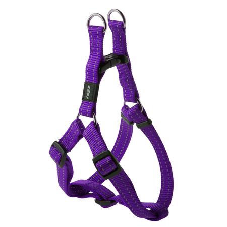 Rogz Reflective Nylon Step-In Dog Harness Purple Snake (32-52cm Girth)