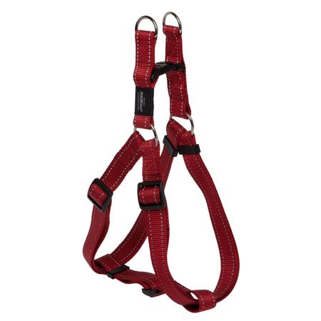 Rogz Reflective Nylon Step-In Dog Harness Red Lumberjack (60-100cm Girth)