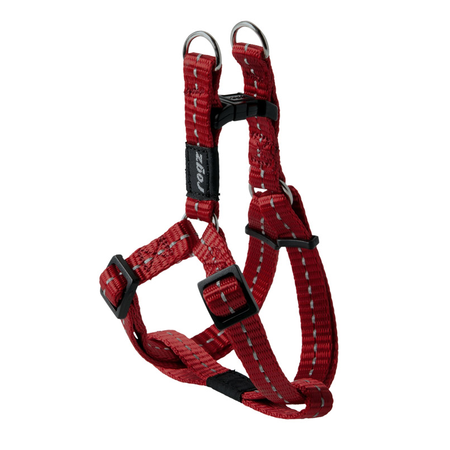 Rogz Reflective Nylon Step-In Dog Harness Red Nitelife (23-37cm Girth)