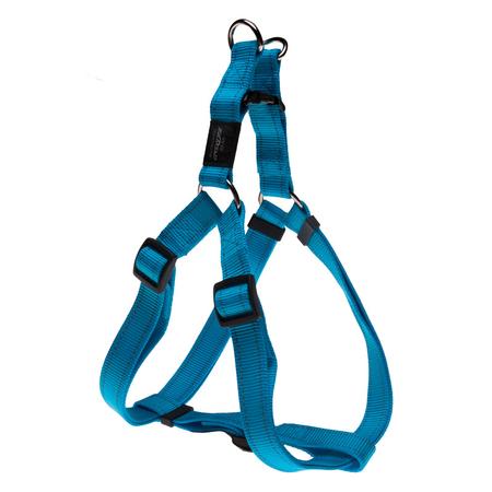 Rogz Reflective Nylon Step-In Dog Harness Turquoise Lumberjack (60-100cm Girth)
