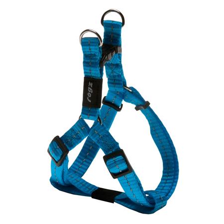 Rogz Reflective Nylon Step-In Dog Harness Turquoise Nitelife (23-37cm Girth)
