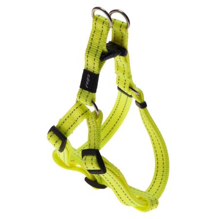 Rogz Reflective Nylon Step-In Dog Harness Yellow Snake (32-52cm Girth)