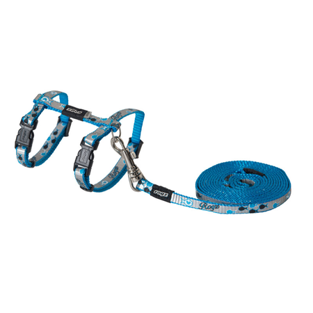 Rogz Reflectocat Fish Design Cat Harness and Lead Set Blue X Small