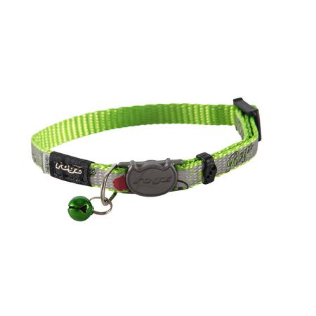 Rogz Reflectocat Fish Design Quick Release Cat Collar Green X Small (8mm)