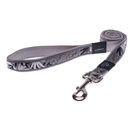 Rogz Silver Gecko Fixed Dog Lead Silver Armed Response (25mm)
