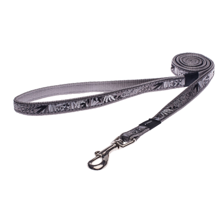 Rogz Silver Gecko Fixed Dog Lead Silver Scooter
