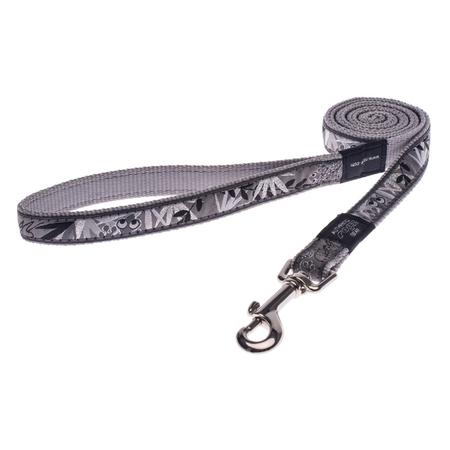 Rogz - Silver Gecko - Fixed Dog Lead