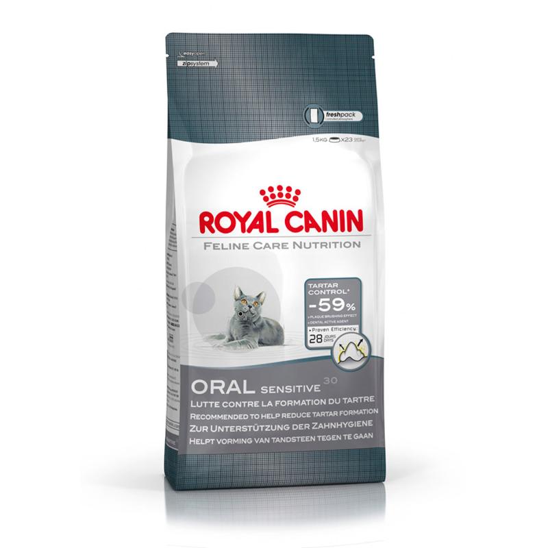 Royal Canin - Adult - Oral Sensitive - Dental Dry Cat Food