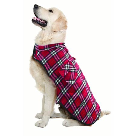 Ruff n Rugged Flannelette Dog Shirt Red L/XL
