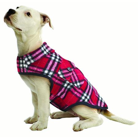 Ruff n Rugged Flannelette Dog Shirt Red XS