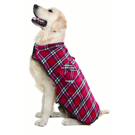 Ruff n Rugged Flannelette Dog Shirt Red XXL
