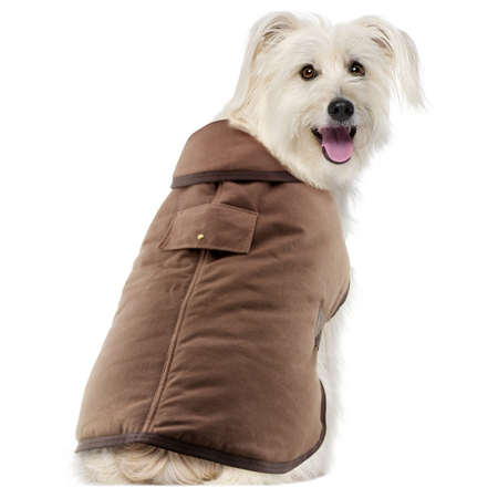 Ruff n Rugged Oilskin Dog Coat Brown Small (35-40cm)