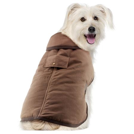 Ruff n Rugged Oilskin Dog Coat Brown X Small (30-35cm)