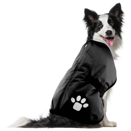 Ruff n Rugged Ripstop Dog Coat Black ML