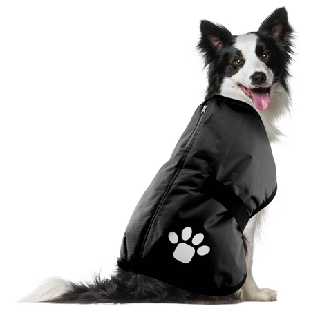 Ruff n Rugged Ripstop Dog Coat Black M