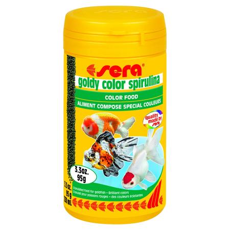 Sera Goldy Colour Spirulina Fish Food  95gm