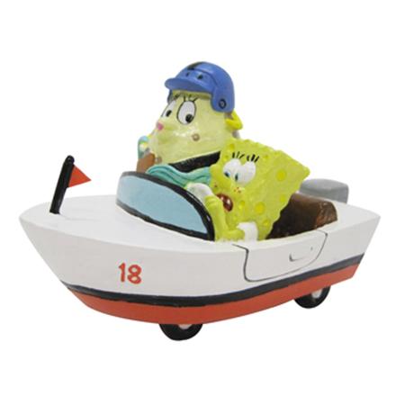 SpongeBob Squarepants and Mrs Puff in Rowboat