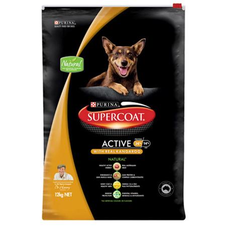 Supercoat Active Adult Kangaroo Dry Dog Food  12kg