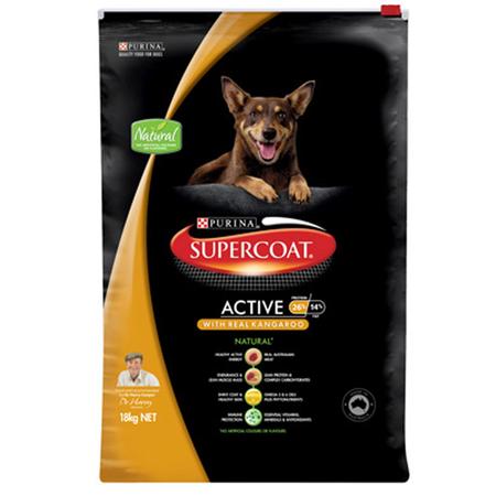 Supercoat Active Adult Kangaroo Dry Dog Food  18kg