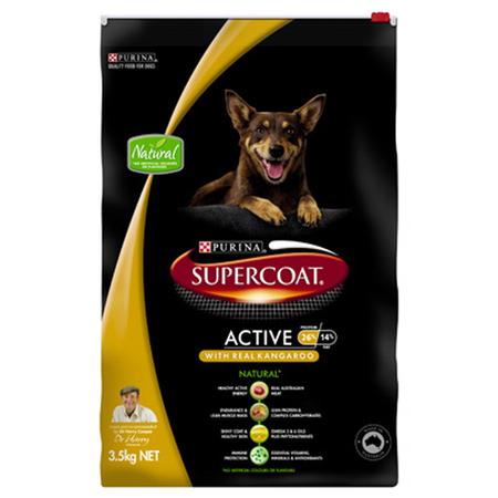 Supercoat Active Adult Kangaroo Dry Dog Food  3.5kg