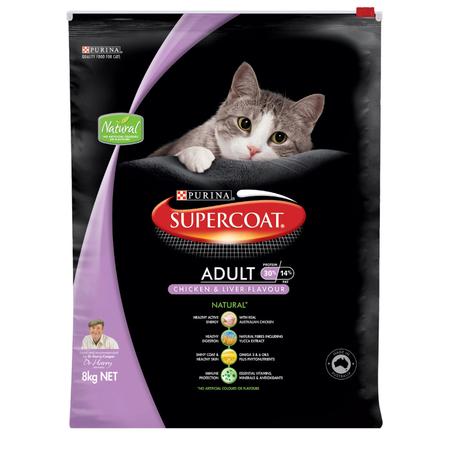 Supercoat Adult Chicken Dry Cat Food  8kg