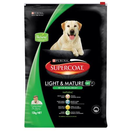 Supercoat Adult Lite & Mature Chicken Dry Dog Food  12kg