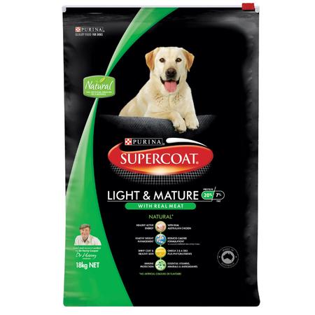 Supercoat Adult Lite & Mature Chicken Dry Dog Food  18kg