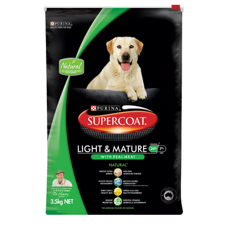 Supercoat Adult Lite & Mature Chicken Dry Dog Food  3.5kg