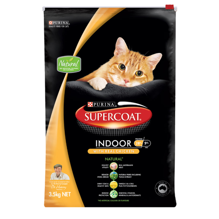 Supercoat Cat Indoor Chicken - 3.5kg