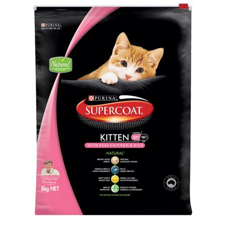 Supercoat Kitten Chicken Dry Kitten Food  8kg