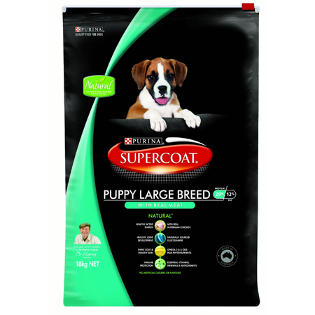 Supercoat Puppy Large Breed Chicken - 18kg Dry Dog Food