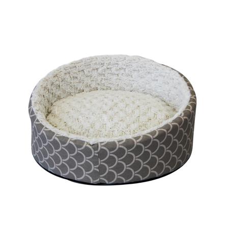 T&S Deluxe Sea Shell Round Dog Bed Beige Medium (60cm - Diameter)
