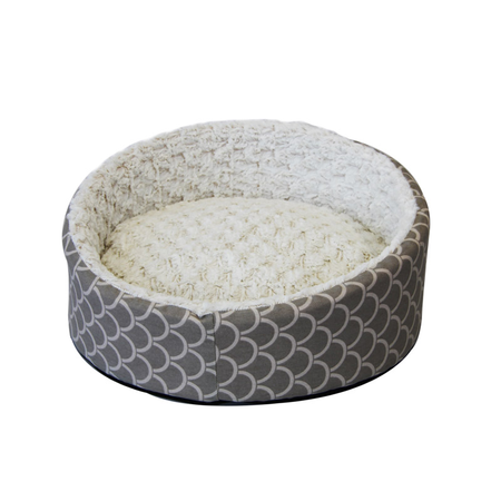 T&S Deluxe Sea Shell Round Dog Bed Beige Small (51cm - Diameter)