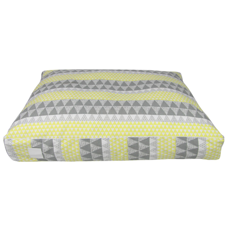 T&S Floor Cushion Yellow Limelight Dog Bed Yellow Large