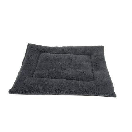 T&S Fluffy Pet Bedding Dog Bed Grey Medium (70x51cm)