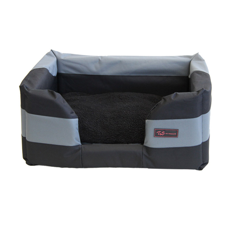 T&S Jackaroo Rectangle Dog Bed Grey Small (65x45x25cm)