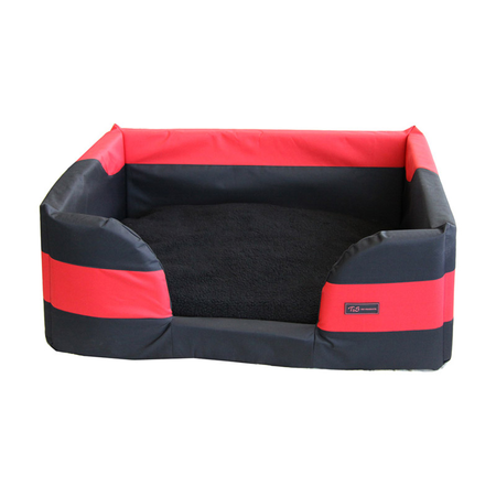 T&S Jackaroo Rectangle Dog Bed Red Large (85x66x31cm)